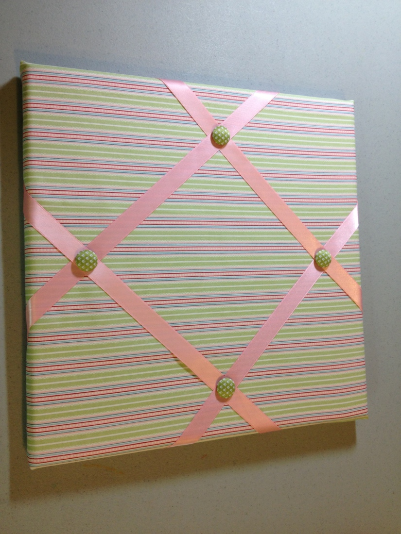 Twitterpated fabric, Pretty in Pink satin ribbon (retired), Summer Smooches fabric covered brads (retired)