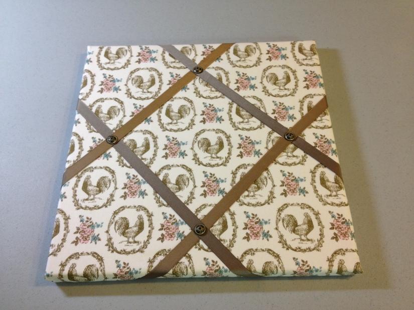Beau Chateau fabric, soft suede ribbon (retired), Antique Brads
