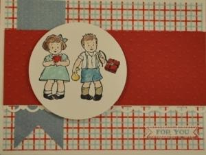 greeting card kids school