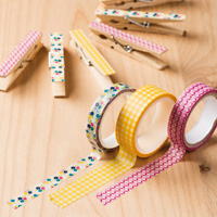 washi tape gingham